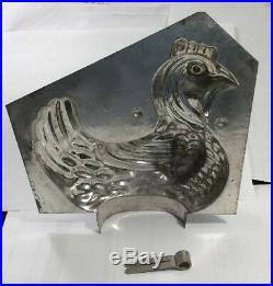 1930s Original Antique French Chocolate Mold-Art Deco Chicken Design