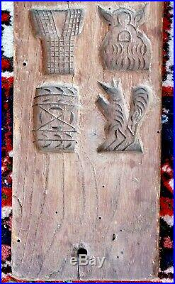 19th century French folk art carved treen cookie or chocolate mold circa 1850