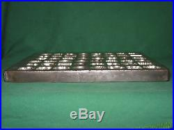 ANTIQUE ANTON REICHE DRESDEN GERMANY 48 SECTION CHOCOLATE MOLD #8 12 33 60St