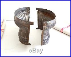 ANTIQUE FLUTED RAISED GAME PIE OR CHOCOLATE MOLD French tin mould