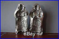 Antique Metal Chocolate Mold Victorian Lady