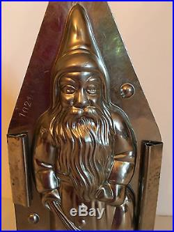 ANTIQUE VINTAGE SANTA WITH BAG & SWITCH CHOCOLATE MOLD. Hornlein. GERMANY