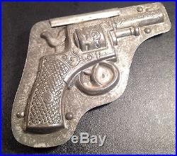 ANTON REICHE Antique Metal Chocolate Mold GUN PISTOL VERY RARE