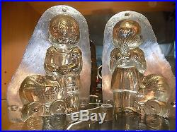 Anton Reiche Lady Whit Baby Chocolate Mold Mould Vintage Antique