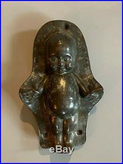 Ancien moule a chocolat bébé signé Anton Reiche antique chocolate mold baby