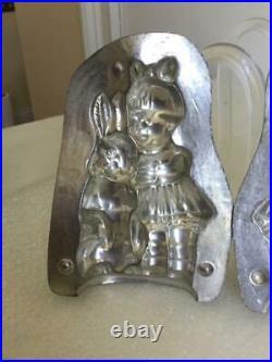 Antique 1926 Anton Reiche 4.75 Girl Hugging Rabbit 21889s Chocolate Mold