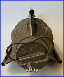 Antique 4 Part Tin Pineapple Chocolate Mold mkd 1307 3/4L standing 8-1/2 high