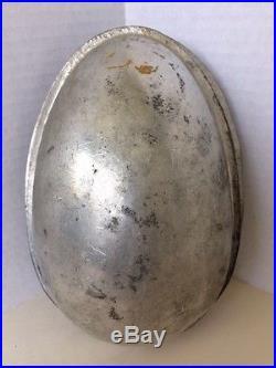 Antique 9H Chocolate Mold Easter Egg Cherub Bacchus Rabbits Grapes Hops Barley