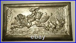 Antique Anton Reiche #6697 Easter Bunny Rabbit on Dog Postcard Chocolate Mold