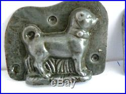 Antique Anton Reiche 6881 Standing Pug Dog Chocolate Mold
