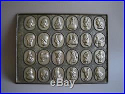 Antique Anton Reiche flat Easter chocolate mold mould with 23 different forms