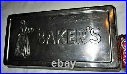 Antique Bakers Chocolate Mold Cocoa Employee Award Baking Pan Tray Advertising
