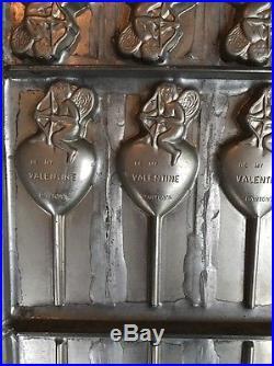 Antique Bartons Candy Chocolate Lollipop Valentine's Day Mold Vormenfabriek
