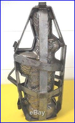 Antique Bunny Rabbit Chocolate Mold Large Easter Candy Making Tall 14 Basket