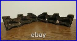 Antique Cast Iron Candy Chocolate Mold Three Ducks