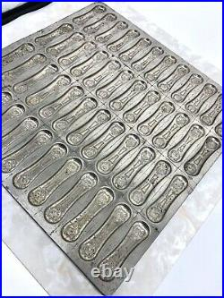 Antique Cat Tongues Chocolate Mold 1920's