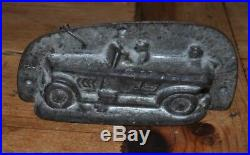 Antique Chocolate Metal Mold Car and Passangers Anton Reiche Rare Old Candy Tin