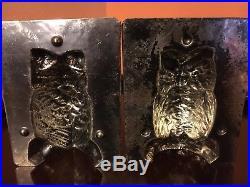 Antique Chocolate Mold Antique Halloween -4 1/2 Eppelsheimer Owl 8083 RARE B2