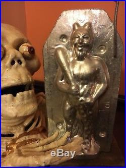 Antique Chocolate Mold Antique Halloween RARE J. Matuschek DEVIL Austria