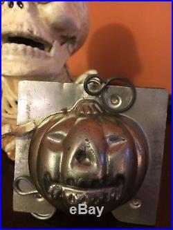 Antique Chocolate Mold Antique Halloween RARE. Large 3 Jack O'Lantern # 210
