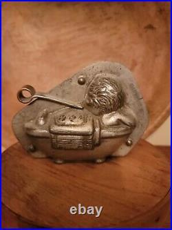 Antique Chocolate Mold Anton Reiche 26355 Baby In Bath