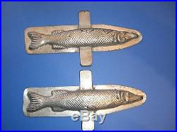 Antique Chocolate Mold Candy Mold Vintage Tin Fish Mold Metal Mold 9