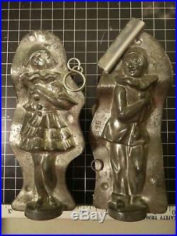 Antique Chocolate Mold Harliquin Girl and Boy Weigandt Anton Reiche 20995 17515