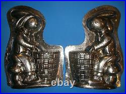 Antique Chocolate Mold LARGE 13 Easter Bunny Candy Mold Display RARE