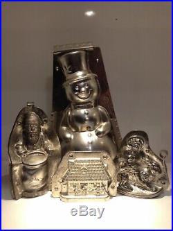 Antique Chocolate Mold! Letang Et Fils Big Snowman! 27 CM Rare Mold