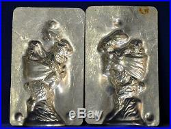 Antique Chocolate Mold RABBIT withBABY RIDING ON HER BACK Eppelsheimer #4807 4 1/2