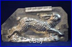 Antique Chocolate Mold Running Rabbit Eppelheimer # 4742 Excellent Condition