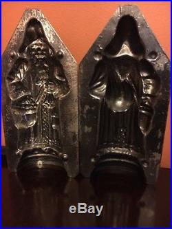 Antique Chocolate Mold VERY RARE A2 -Jaburg Bros (Ger) Father XMAS Bag on Left