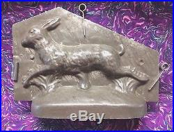 Antique Chocolate Mold Very Rare Running Hare Sommet
