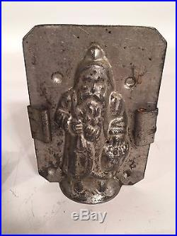 Antique Chocolate Molds, Rabbit and Two Santa Clause Belsnickel