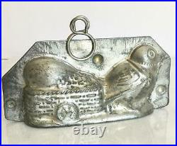 Antique Chocolate Walter 8297 Chick Pulling Egg In Cart Flowers Mold