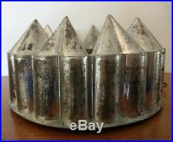 Antique Culinary Tin Mold Mould 10 Hearts Jelly Aspic Chocolate Ice Cream Aafa