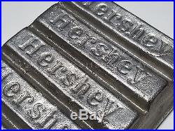 Antique EARLY HERSHEY TIN CHOCOLATE BAR MOLD 8 separable candy mould