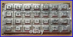 Antique EARLY HERSHEY TIN CHOCOLATE BAR MOLD separable alphabet mould
