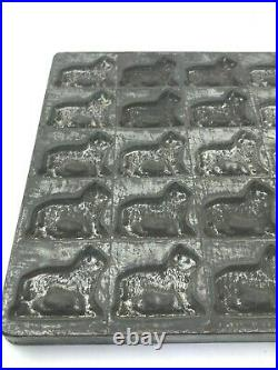 Antique Eppelsheimer Chocolate Mold Lions or Dogs 35 spots
