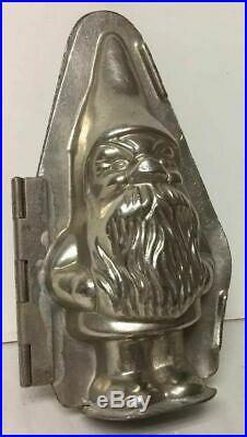 Antique Figural Gnome Hinged Metal Chocolate Mold Hans Bruhn & Co Hamburg German