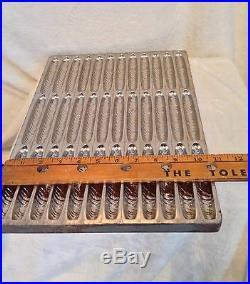 Antique French Belguim CIGAR Chocolate Metal Candy Mold Baking Pan, 4.5 Cigar