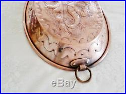 Antique French Ornate Copper Pudding / Chocolate Mold with Coat of Arms & Griffins