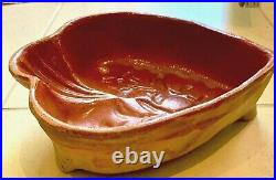 Antique French Pottery Confit Earthenware Glazed Chocolate Mold Red Ware Vessel