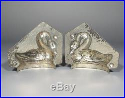 Antique French Tinned Metal Chocolate Mold, Swan, Signed Sommet Paris, Numbered