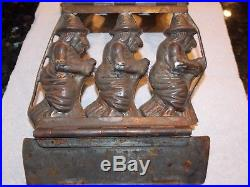 Antique German Chocolate Mold DRGM 3 Witches No. 4270 Halloween Rare