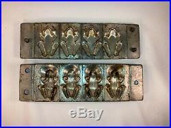 Antique German Metal Chocolate Mold Frogs, Signed Anton Reiche Weygandt