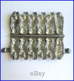 Antique German Steel Chocolate Parakeet Mold