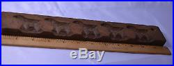 Antique Hand Carved Wood Candy Chocolate Cookie Animal Mold Has 5 Dogs Or Lambs