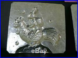 Antique Heris 8350 Rabbit Riding A Rooster Easter Chocolate Mold