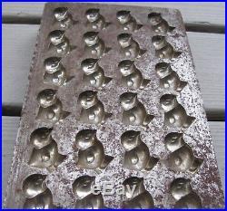 Antique Iron Chocolate Mold 36 Chicks, Adorable